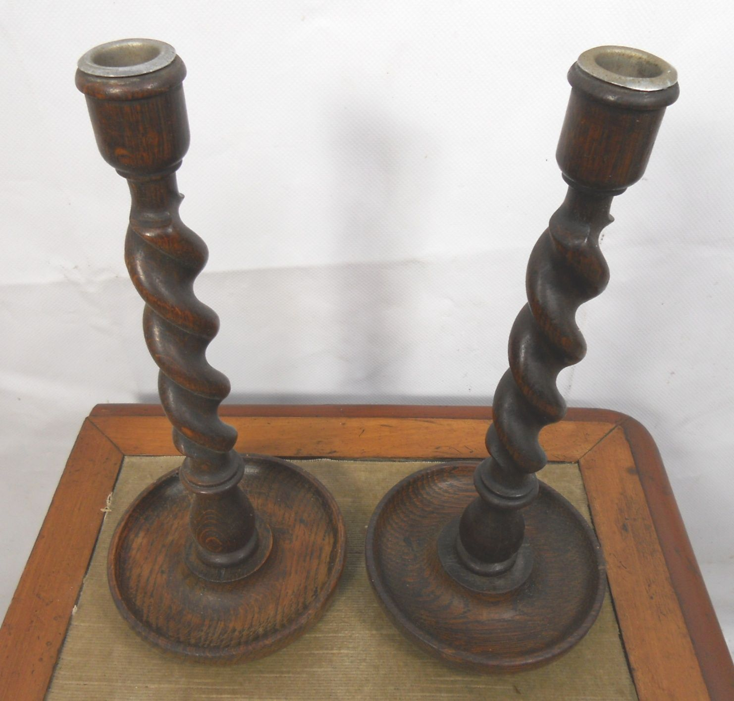 Two Pairs Oak Barley Twist Candlesticks : two pairs oak barley twist candlesticks 4 3373 p from www.affordableantiquefurniture.co.uk size 1482 x 1415 jpeg 181kB